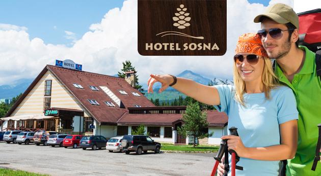Skvelý letný pobyt v Hoteli Sosna*** vo Vysokých Tatrách iba za 37€ na 3 dni. Výborné ubytovanie, chutná polpenzia, biliard a ďalší balíček služieb.