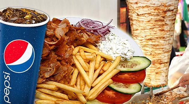 Ochutnajte vynikajúci kebab tanier s hranolkami iba za 2,99€. MK Kebab vás pozýva na kuracie mäsko, hranolky, zeleninu, dresing, chilli a k tomu dostanete plechovku Pepsi Coly alebo Mirindy.