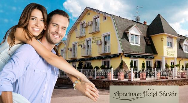 Užite si relax počas 3 alebo 6 dní v Apartman Hoteli Sárvár*** v Maďarsku už od 84€ pre dve osoby s polpenziou. Pokojné ubytovanie neďaleko Arboréta a Spa kúpeľov.