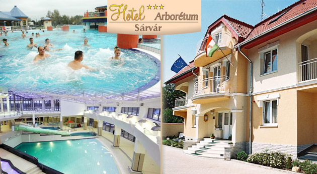 Hotel Arborétum*** -  relaxačný pobyt pre dvojicu len 10 minút od Spa za 87€ vrátane raňajok a vstupu do termálnych a liečebných kúpeľov. Fantastický relax v susednom Maďarsku!