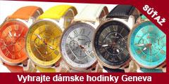 Súťaž o troje dámske hodinky Geneva