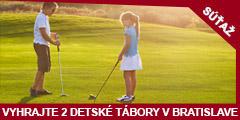 Súťaž o 2 detské letné tábory Rytieri a kňažné golfu v Bratislave